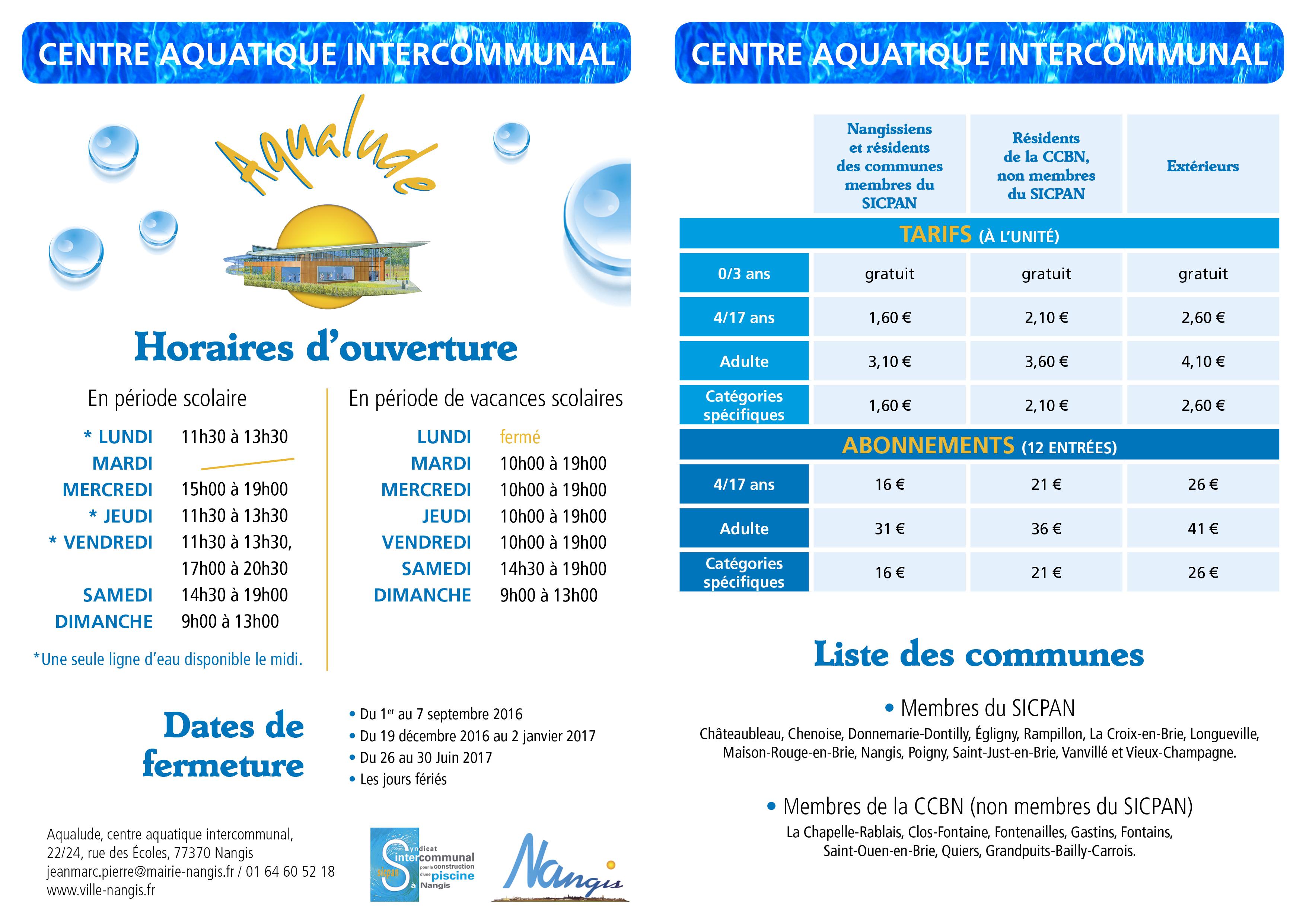 Centre aquatique aqualude nangis espace aquatique for Piscine de nangis